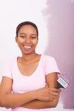 Ζωγραφική γυναικών αφροαμερικάνων στοκ εικόνα με δικαίωμα ελεύθερης χρήσης