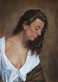 Ζωγραφική ενός κοριτσιού τσιγγάνων διανυσματική απεικόνιση