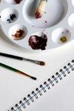 ζωγραφική εξαρτήσεων Στοκ φωτογραφία με δικαίωμα ελεύθερης χρήσης