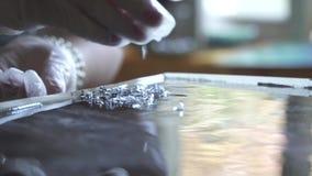 Ζωγραφική εποξικής ρητίνης απόθεμα βίντεο