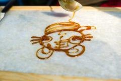 Ζωγραφική ζάχαρης στοκ φωτογραφία με δικαίωμα ελεύθερης χρήσης