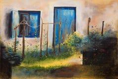 ζωγραφική κήπων ελεύθερη απεικόνιση δικαιώματος