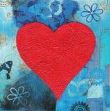ζωγραφική καρδιών κολάζ απεικόνιση αποθεμάτων