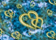 ζωγραφική καρδιών Στοκ εικόνα με δικαίωμα ελεύθερης χρήσης