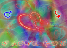 ζωγραφική καρδιών Στοκ εικόνες με δικαίωμα ελεύθερης χρήσης
