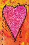 ζωγραφική καρδιών διανυσματική απεικόνιση