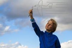 Ζωγραφική κατσικιών στον ουρανό Στοκ φωτογραφία με δικαίωμα ελεύθερης χρήσης