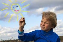 Ζωγραφική κατσικιών στον ουρανό Στοκ εικόνα με δικαίωμα ελεύθερης χρήσης