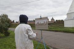 Ζωγραφική καλλιτεχνών ατόμων σε suzdal, Ρωσική Ομοσπονδία Στοκ Φωτογραφία