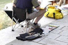 Ζωγραφική καλλιτεχνών ατόμων στην οδό Στοκ φωτογραφία με δικαίωμα ελεύθερης χρήσης