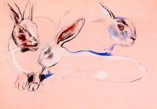 Ζωγραφική κουνελιών Στοκ εικόνα με δικαίωμα ελεύθερης χρήσης