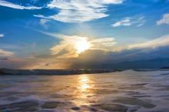 Ζωγραφική, κύματα θάλασσας Στοκ φωτογραφίες με δικαίωμα ελεύθερης χρήσης