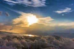 Ζωγραφική, κύματα θάλασσας Στοκ φωτογραφία με δικαίωμα ελεύθερης χρήσης