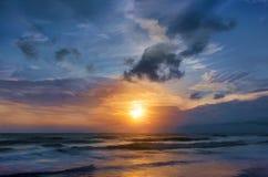 Ζωγραφική, κύματα θάλασσας Στοκ εικόνα με δικαίωμα ελεύθερης χρήσης