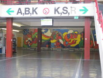 Ζωγραφική μέσα στο πανεπιστήμιο του Μπίλφελντ Στοκ εικόνα με δικαίωμα ελεύθερης χρήσης