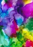 Ζωγραφική μελανιού οινοπνεύματος αφηρημένη ανασκόπηση τέχνης φόντο φωτεινό ελεύθερη απεικόνιση δικαιώματος