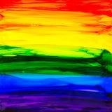 Ζωγραφική μελανιού οινοπνεύματος ουράνιων τόξων στοκ εικόνες με δικαίωμα ελεύθερης χρήσης