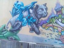 Ζωγραφική μιας γάτας Στοκ εικόνα με δικαίωμα ελεύθερης χρήσης