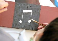 ζωγραφική μουσικής Στοκ φωτογραφία με δικαίωμα ελεύθερης χρήσης