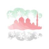 Ζωγραφική μουσουλμανικών τεμενών με τα αραβικά χρώματα σημαιών εμιράτων Στοκ Εικόνα