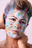 ζωγραφική μόδας 2 προσώπου Στοκ Φωτογραφίες