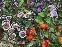 Ζωγραφική λουλουδιών Στοκ φωτογραφίες με δικαίωμα ελεύθερης χρήσης