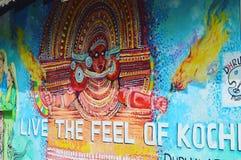 Ζωγραφική οδών του Κεράλα στοκ φωτογραφίες