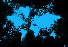 Ζωγραφική παγκόσμιων χαρτών Στοκ φωτογραφία με δικαίωμα ελεύθερης χρήσης