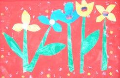 ζωγραφική παιδιών τέχνης Στοκ Φωτογραφία