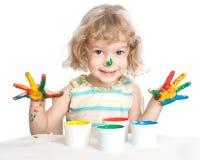 ζωγραφική παιδιών Στοκ Φωτογραφία