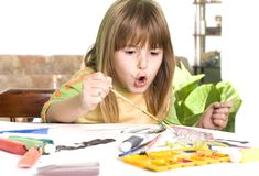 ζωγραφική παιδιών Στοκ Εικόνα