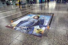 Ζωγραφική πατωμάτων της ιερής Mary Στοκ εικόνα με δικαίωμα ελεύθερης χρήσης