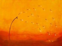 ζωγραφική πικραλίδων διανυσματική απεικόνιση