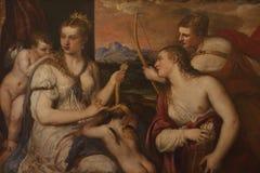 Ζωγραφική σε Galleria Borghese Ρώμη Στοκ εικόνες με δικαίωμα ελεύθερης χρήσης