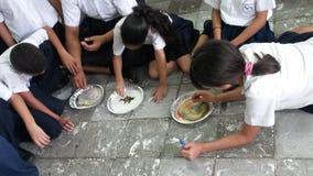 Ζωγραφική σπουδαστών στοκ φωτογραφία με δικαίωμα ελεύθερης χρήσης
