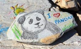 Ζωγραφική στις πέτρες Στοκ Φωτογραφίες
