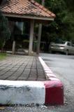Ζωγραφική στο μονοπάτι και την οδό με το κόκκινο Στοκ φωτογραφία με δικαίωμα ελεύθερης χρήσης