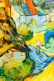 Ζωγραφική τέχνης πράσινη και μπλε Στοκ εικόνες με δικαίωμα ελεύθερης χρήσης