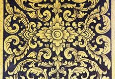 Ζωγραφική τέχνης σχεδίων λουλουδιών του ναού Στοκ φωτογραφία με δικαίωμα ελεύθερης χρήσης