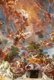 Ζωγραφική τέχνης του ανώτατου ορίου στην κεντρική αίθουσα της βίλας Borghese, Ρώμη Στοκ εικόνα με δικαίωμα ελεύθερης χρήσης