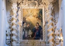 Ζωγραφική της ανάβασης Madonna επάνω από έναν από τους βωμούς, Basilica Di Santa Croce Στοκ Εικόνα