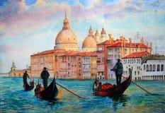 Ζωγραφική της Βενετίας Ιταλία διανυσματική απεικόνιση