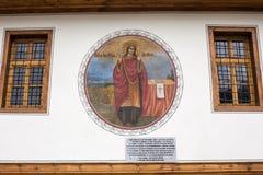 Ζωγραφική τοίχων στην παλαιά εκκλησία Sveti Nedelya στην πόλη Plovdiv, Βουλγαρία Στοκ Εικόνες