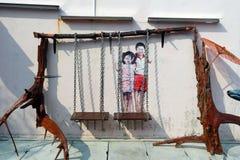 Ζωγραφική τοίχων Στοκ Φωτογραφίες