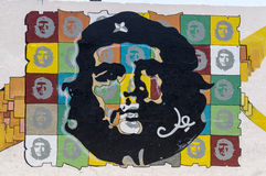 Ζωγραφική τοίχων Guevara Che στην Αβάνα στοκ εικόνες