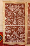 Ζωγραφική τοίχων Warli στοκ φωτογραφία με δικαίωμα ελεύθερης χρήσης