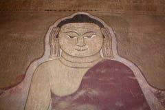 Ζωγραφική του Βούδα στον τοίχο στοκ φωτογραφίες