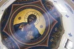 Ζωγραφική του Ιησού Pantocratoros Στοκ εικόνες με δικαίωμα ελεύθερης χρήσης