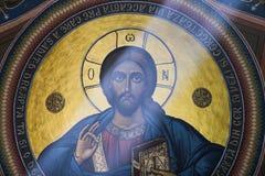 Ζωγραφική του Ιησού Pantocratoros Στοκ Εικόνες