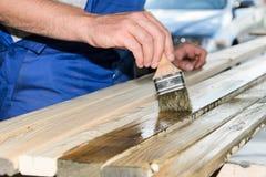 Ζωγραφική του ξύλου για το φράκτη στοκ φωτογραφίες με δικαίωμα ελεύθερης χρήσης